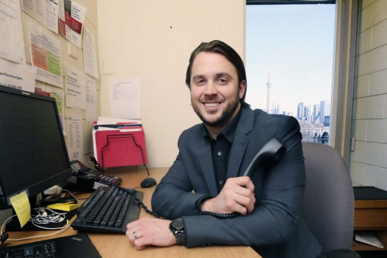 Adam Whisler is a mental-health coach, a new role for Canada that involves calling patients once a week to provide support for those dealing with depression, anxiety or at-risk drinking.