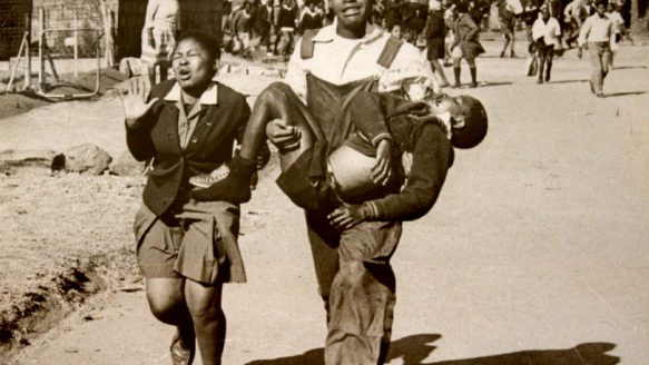 An iconic photo from the June 16, 1976 Soweto uprising shows Mbuyisa Makhubu, then 18, carrying a dying Hector Pieterson, who had been hit by police bullets fired at protesting schoolchildren.  Makhubu was reportedly harassed by South African authorities and vanished soon after.