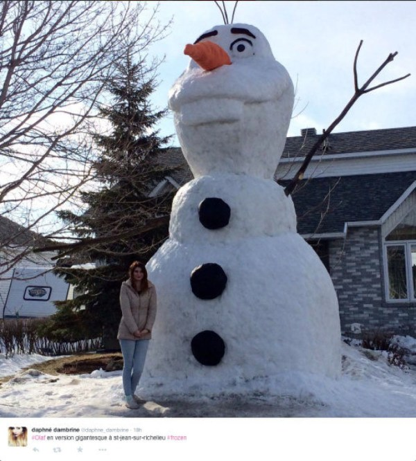 Is that Olaf from Frozen? This snowman is a cool 20 feet ...