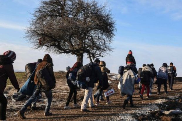 Migrants walk after crossing the Macedonian border into Serbia on Monday. More than one million people from countries such as Syria, Iraq and Afghanistan entered Europe last year in what has been called the biggest migration to the continent since the Second World War.