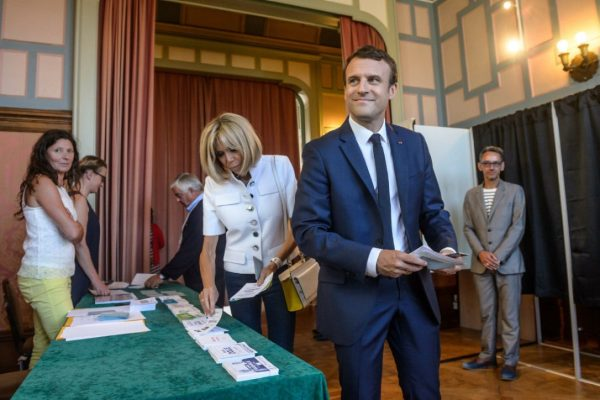 Macron's party takes strong lead in French parliamentary ...