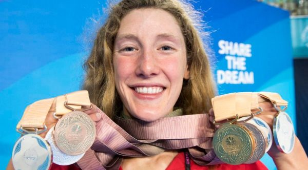 Canadian swimmer Taylor Ruck ties Commonwealth Games ...
