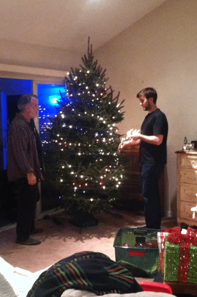 wrapping lights