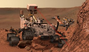 Curosity on Mars - Artist's concept