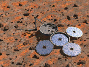 Artist's impression of Beagle 2 lander. -  ESA/Denman productions