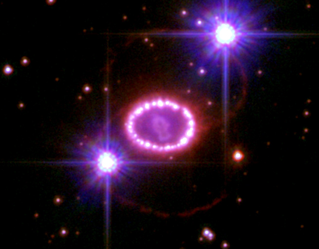 2006 Hubble image of SN 1987A