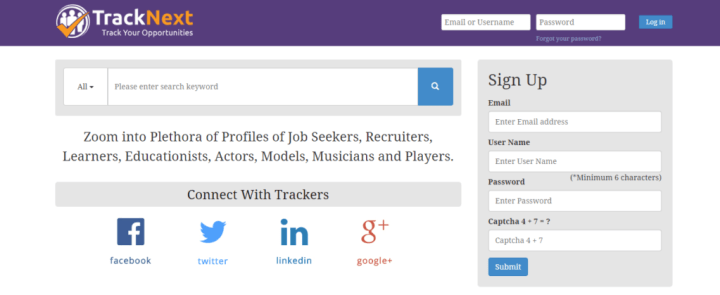 TrackNext - Business Social Network