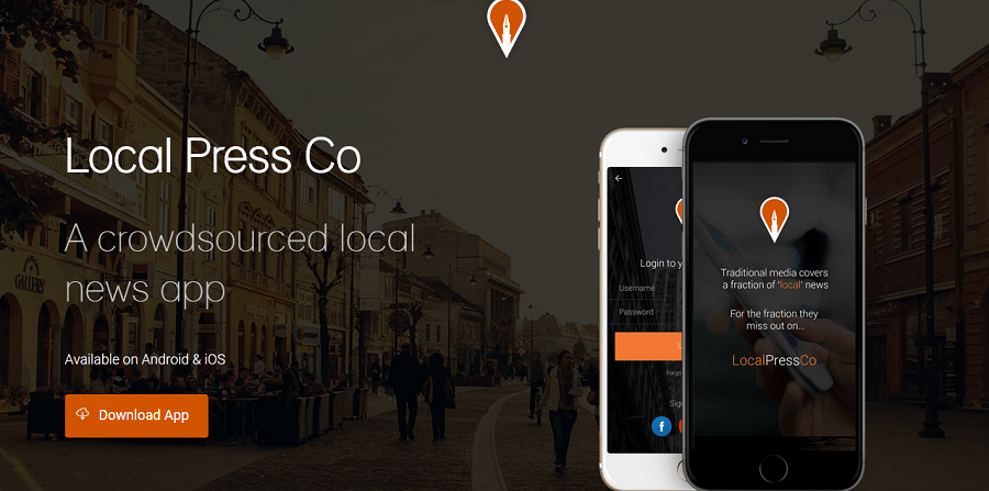 Local Press Co Hyper Local News App