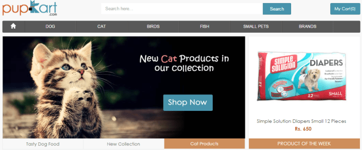 PupKart - Pet Product Startup