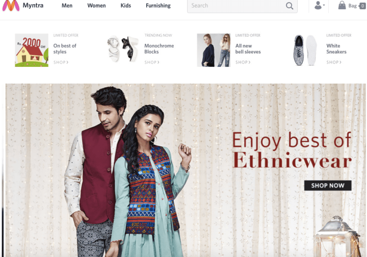 Myntra Website Relaunch