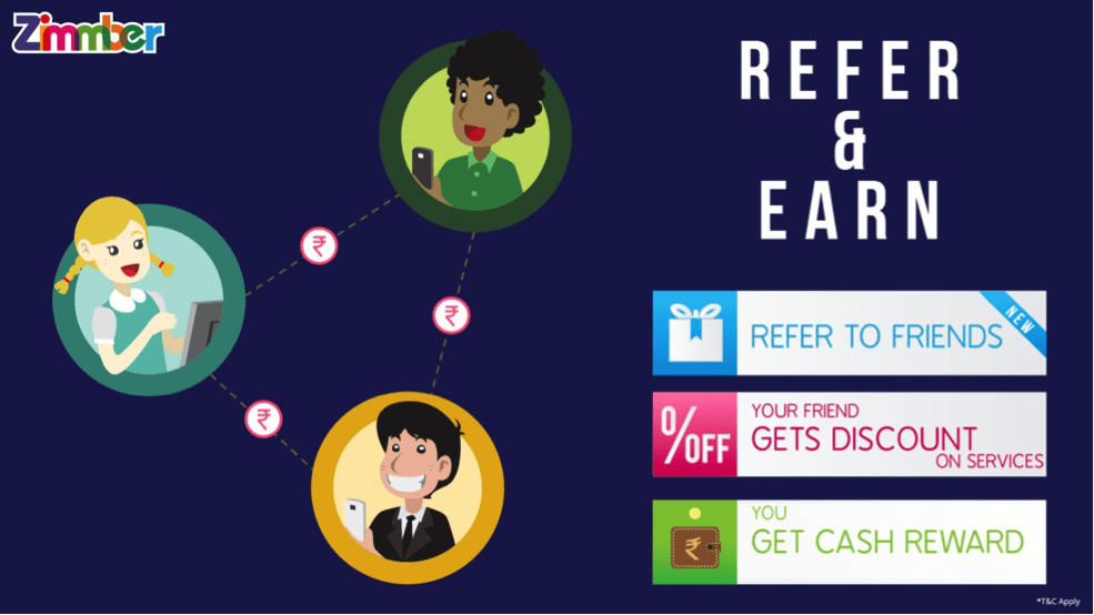 Zimmber Refer And Earn