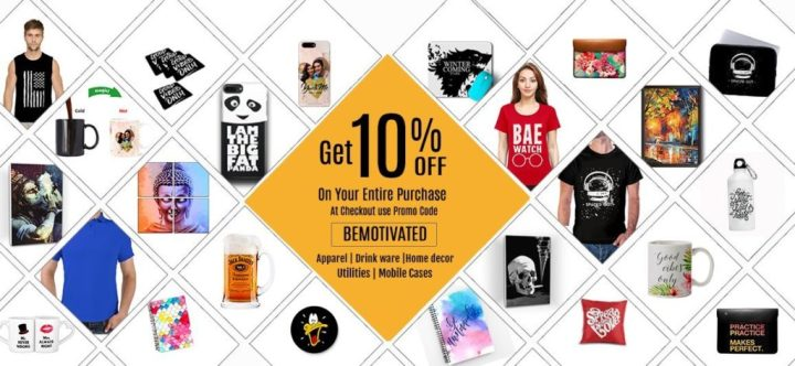 Add the Coupon Code: bemotivated and get 10% off on every purchase! Yes, you heard that here first.