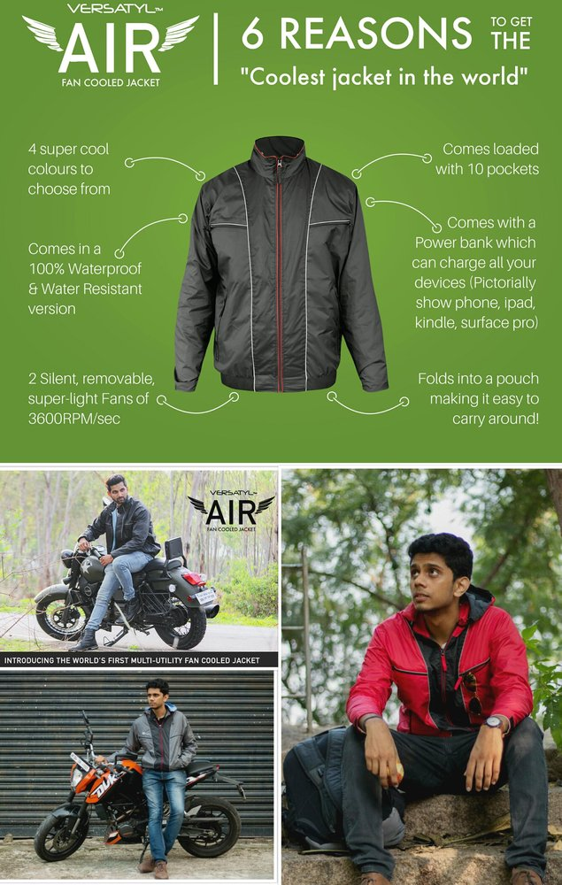 Versatyl Air - World's First FAN COOLED Jacket