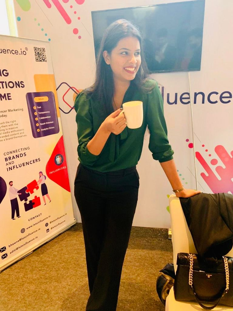 Ms. Bhawna Sethi, Founder of LetsInfluence at an influencer marketing event