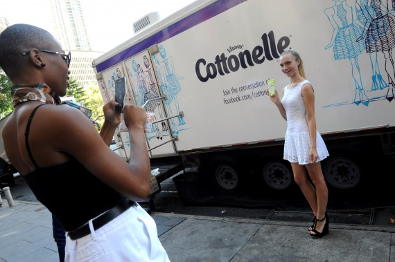 Cottonelle Clean and Fresh Restroom at #NYFW