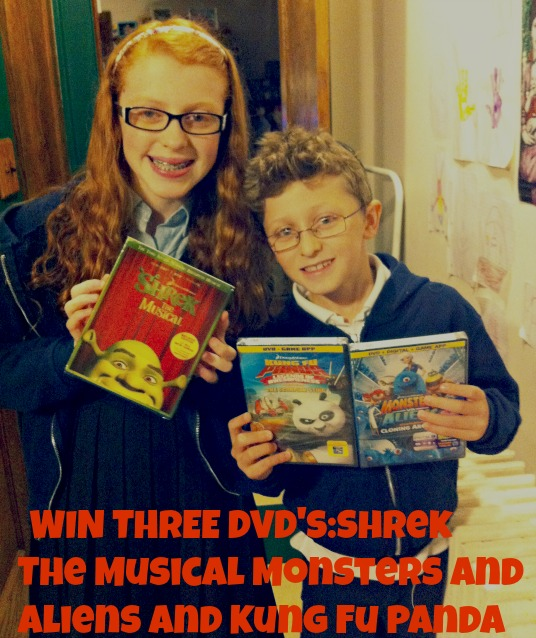 WIN THREE DVD's:Shrek The Musical Monsters and Aliens and Kung Fu Panda Scorpion Sting!