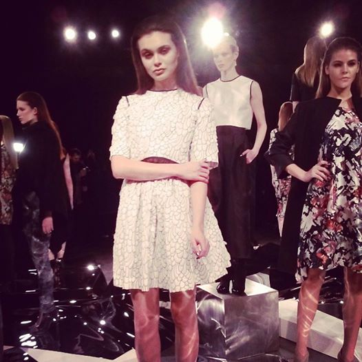 New York Fashion Week 2014 Czar by Cesar Galindo collection. Truly wearable art for the modern working woman and mom! #NYFW