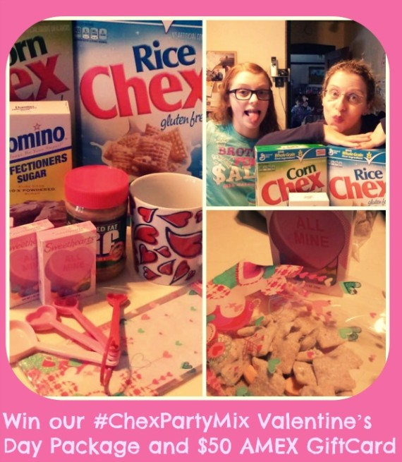 our #ChexPartyMix Valentine's Day Package and $50 AMEX GiftCard Giveaway!