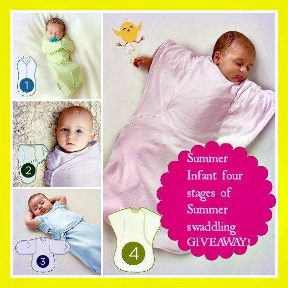 Summer Infant four stages of Summer swaddling GIVEAWAY!