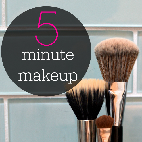 My five minute get-out-the-door Makeup Routine which Includes my Felix & Iris Polka Dot frames