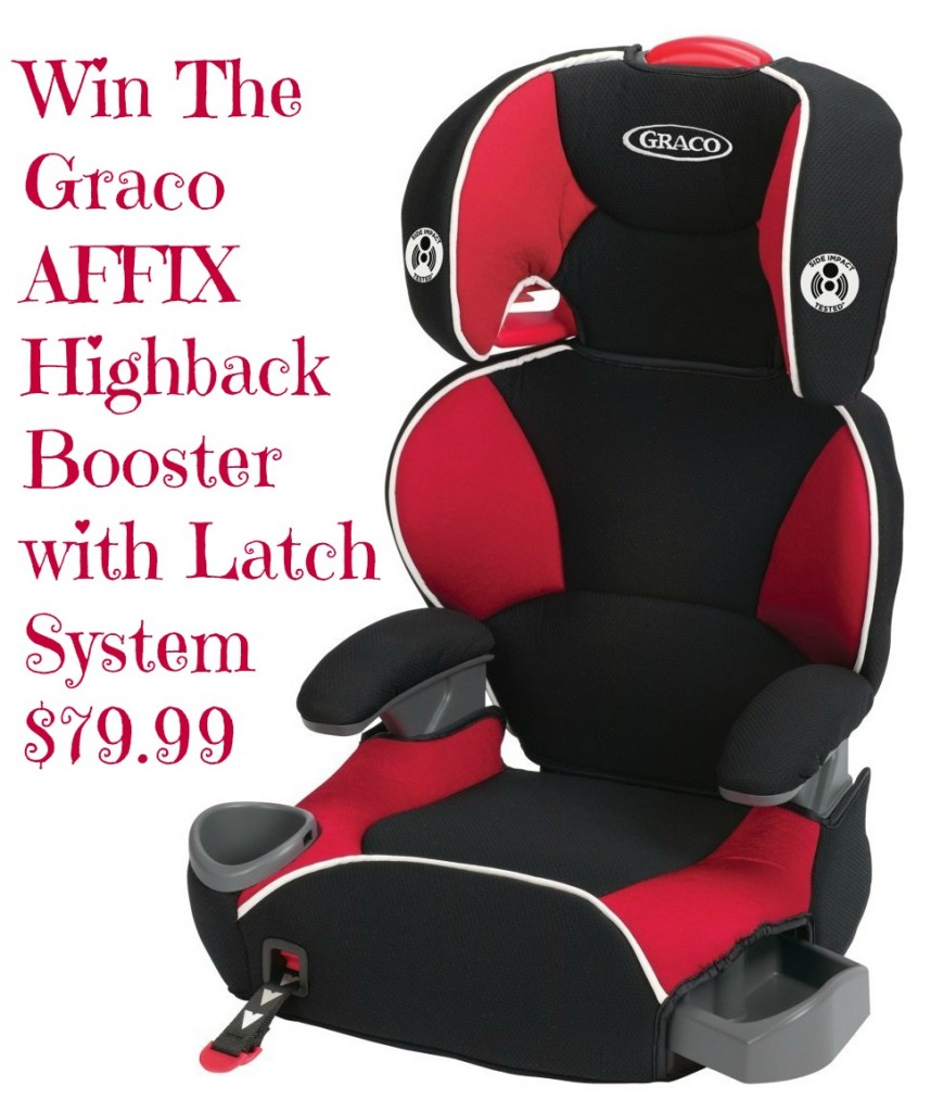 Boost up For Back to School with our Graco AFFIX Highback Booster with Latch System ($79.99) GIVEAWAY!