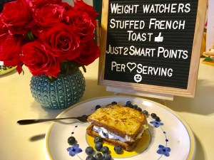 Stuffed French Toast Breakfast For Dinner Back to School Recipe is only two smart points oer serving on the Weight Watchers freestyle plan!