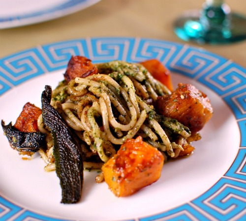 Recipe for Basil Pesto Pasta with Butternut and Sage