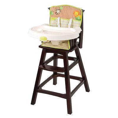 Summer Infant Classic Comfort Wood High Chair in Swingin Safari