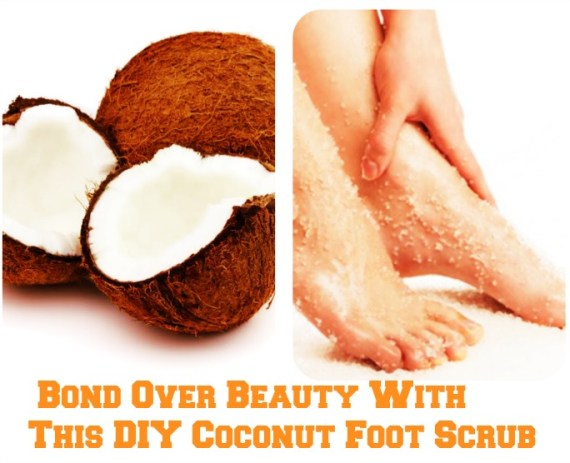Pamper Yourself With a DIY Coconut Foot Scrub and DIY Peppermint Candy Cane Foot Scrub