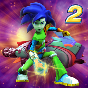 HyperBlast 2  is the perfect game for the action enthusiast. Players will blast through levels shooting and dodging fast-flying obstacles to reach the Alien Boss! In true Math Blaster fashion, the player needs to use their math skills and smarts to battle and defeat the Alien Boss and unlock new weapons, ammo and more levels!