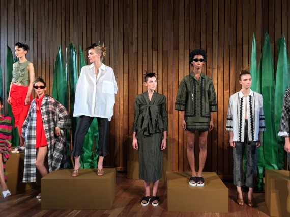 Serafina Sama - creative director for Isa Arfen Spring/ Summer 2016 said the collection is based on an imagined journey through warmer climates creating an interchangeable capsule collection rooted in a desire for adventure.