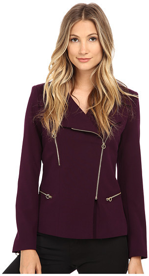 Add a bit of dimension to your look with this Calvin Klein Structured jacket with moto style