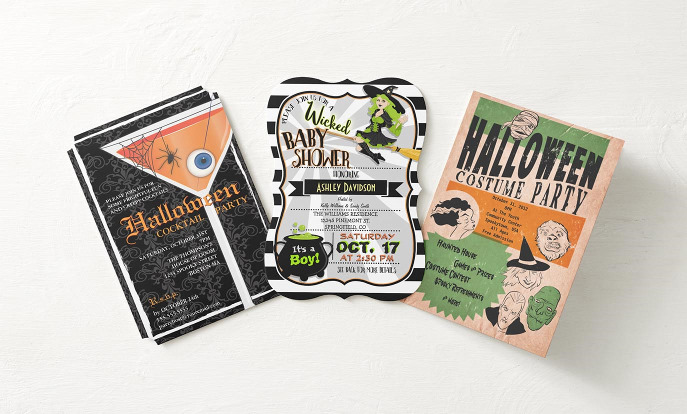 Zazzle has a host of fabulous invites to choose from that you can custom design to bring make sure you have plenty of witches and goblins at your Halloween fete