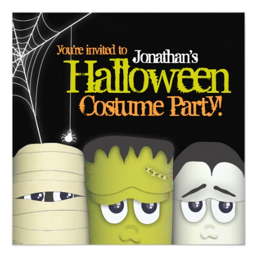 5aa093235840 Design your very own halloween costume party Invitation at Zazzle
