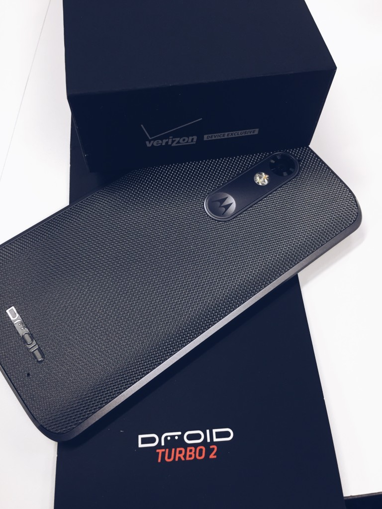 The Droid Turbo 2 by Motorola  Finally you can carry a smart phone with confidence—it has the world's first shatterproof display, guaranteed not to crack or shatter