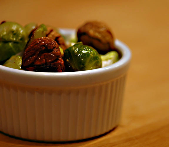 Brussel Sprouts Roasted Chestnuts