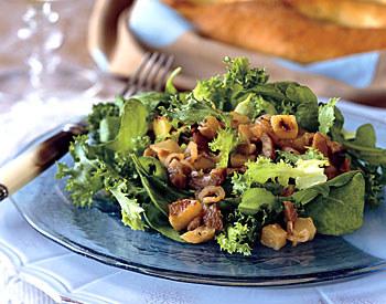 Warm Chestnut and Apple Salad