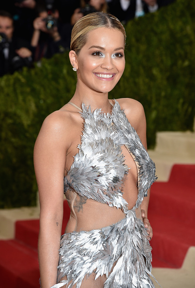 """NEW YORK, NY - MAY 02: Rita Ora attends the """"Manus x Machina: Fashion In An Age Of Technology"""" Costume Institute Gala at Metropolitan Museum of Art on May 2, 2016 in New York City. (Photo by Dimitrios Kambouris/Getty Images)"""