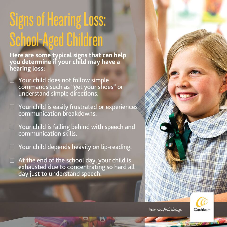 Signs of hearing Loss in School AGed Children #IWantToHear
