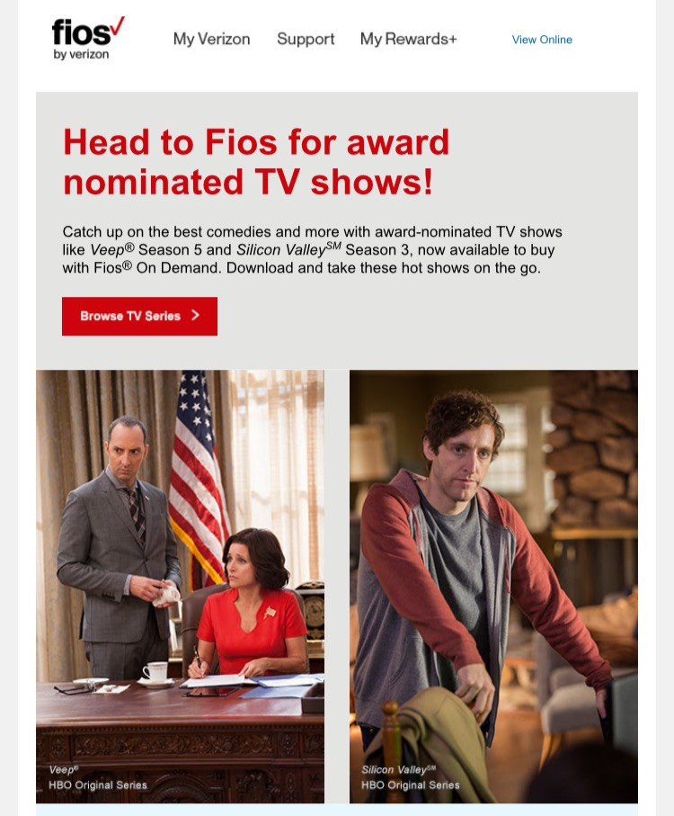 Fios gets you the most requested shows and movies.