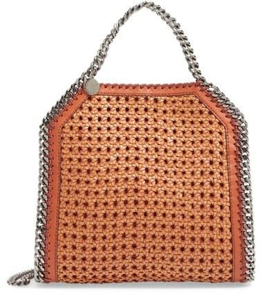 Stella McCartney 'Mini Falabella' Woven Faux Leather Tote