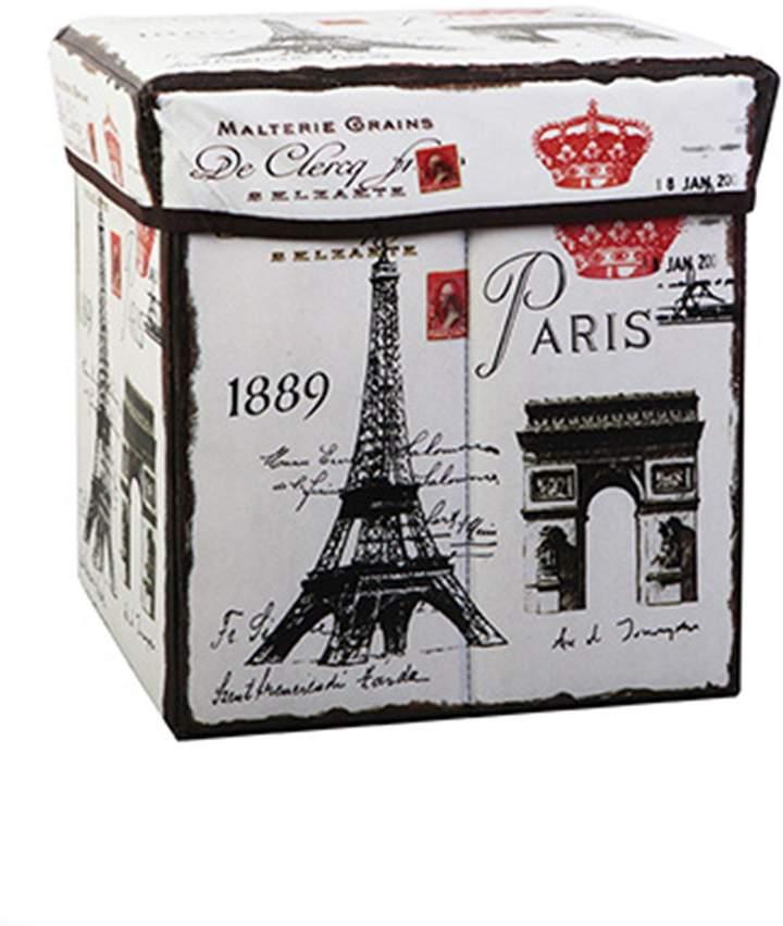 Shein Eiffel Tower Print Storage Box