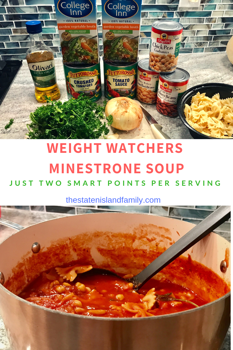 weight watchers minestrone soup