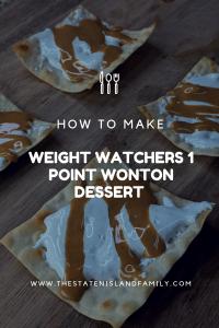 Weight Watchers 1 Point Wonton Dessert