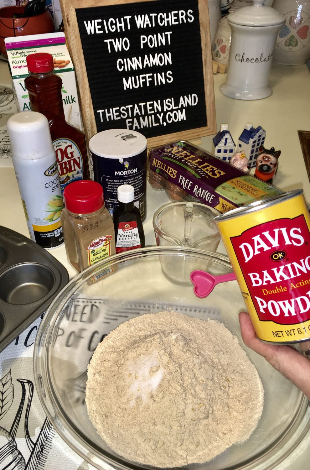 add baking powder for cinnamon muffins recipe