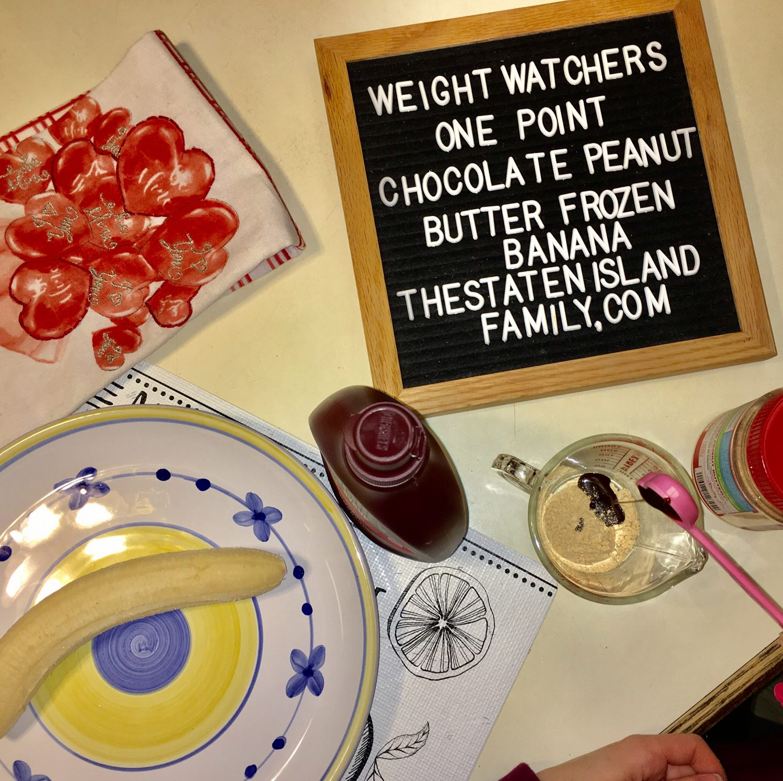 Weight Watchers one point chocolate peanut butter frozen banana recipe