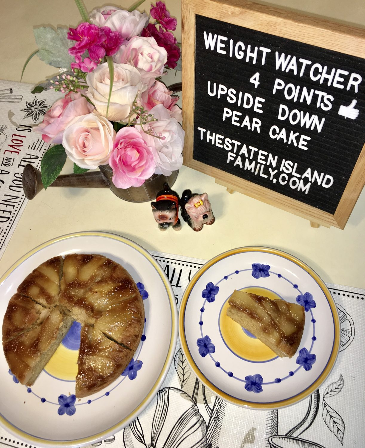 Weight Watchers Upside Down Pear Cake - Just four points per serving!