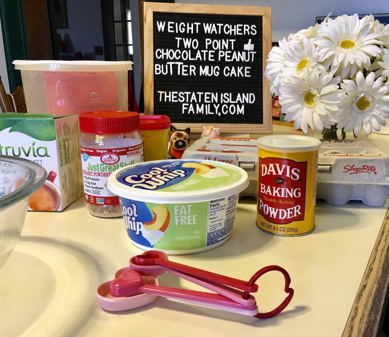 Weight Watchers Peanut Butter and Chocolate Cake Mug Cake