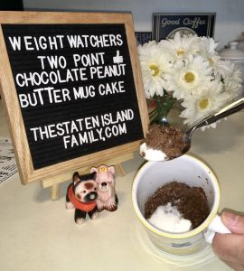 Weight Watchers Peanut Butter and Chocolate Cake Mug Cake