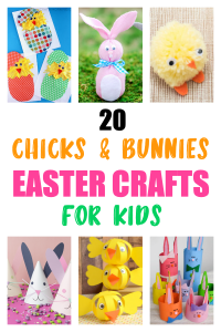 20 Bunnies And Chicks Easter Crafts For Kids